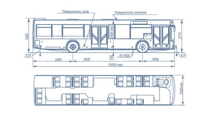 автобус маз 203 габаритные